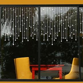 特价 珠帘 玻璃橱柜贴 客厅沙发卧室床头背景 玄关楼梯贴 墙贴