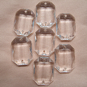 出口品质/长方八角亚克力水晶珠 服饰  珠帘等辅料压克力珠