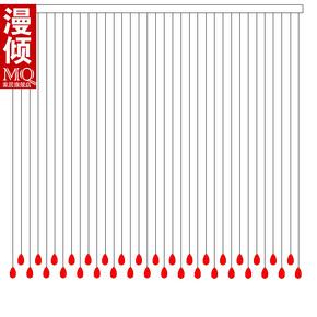 漫倾水晶珠帘门帘隔断玄关水晶帘珠帘造型图2