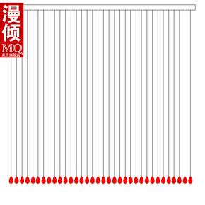 漫倾水晶珠帘门帘隔断玄关水晶帘珠帘造型图1