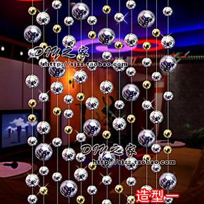 新款大气珠帘镀UV大珠隔断玄关挂帘酒吧KTV娱乐城办公装饰金属感