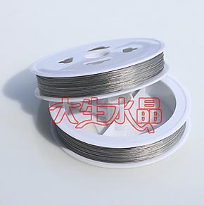 ㊣水晶珠帘线 水晶灯吊线 DIY  窜珠线 钢丝线 金属线 穿珠线