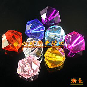 DIY手工串珠材料16mm透明亚克力六角珠花瓶珠子珠帘珠棱珠子
