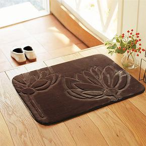 琪特 夏荷 冬季超柔纯手工剪花工艺 地垫/门垫/地毯   50x80厘米
