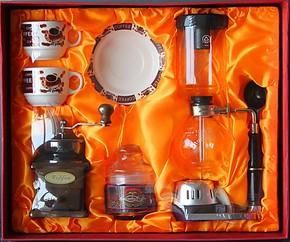 虹吸壶磨豆机礼盒套装 煮咖啡器具套装 酒精灯咖啡机