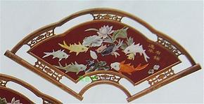仿古红木玉画客厅装饰画天然玉石壁画连年有余玉画玉屏风壁屏