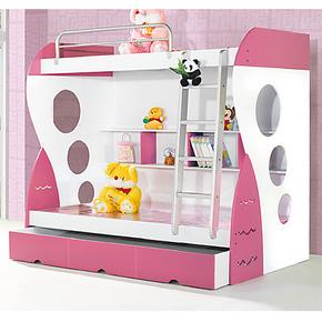 儿童双层床上下床板式双层床上下铺双层床1.0米高低子母床包物流