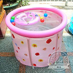 小号成人沐浴桶加厚折叠浴桶充气浴缸宝宝泡澡桶儿童洗澡桶