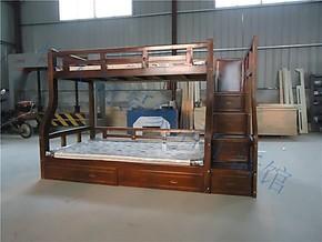 宜家简易松木儿童床实木双层床橡木子母床高低床上下床母子床