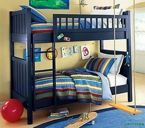 宜家怡人高低床橡木上下床子母床实木高低子母床松木双层床