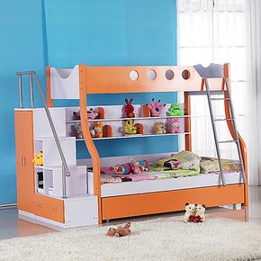 儿童床儿童双层床上下床子母床高低床家具套房母子床上下铺1.35米