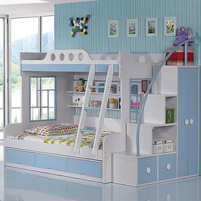 双层床儿童高低床上下床子母床现代简约儿童床套房家具 y11包邮