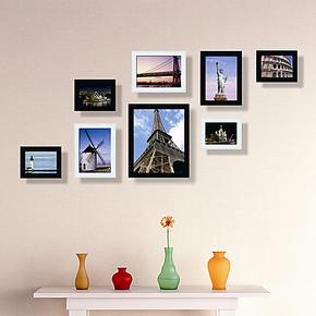 3皇冠巨匠8框 照片墙相框墙相片墙相框组合婚纱家装书房 秒杀08A