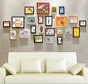 照片墙 加厚实木 创意组合 婚纱相片墙 韩式相框墙 艺术相框组合