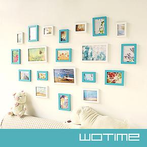 清仓包邮心形照片墙 实木相框创意组合相片墙 适合结婚照宝宝成长