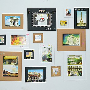 diy照片墙 纸质纸相框 卡纸相框 宝宝相框 大头贴情侣记念相框