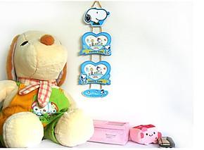 正品卡通宝宝相框二连情侣挂式相架kt米奇维尼熊史努比儿童照片墙