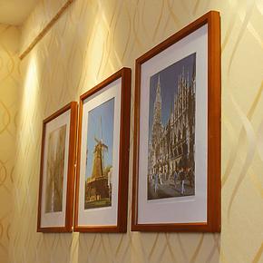 16寸相框组合 现代实木照片墙相片墙 冲印婚纱照宝宝生活照 包邮