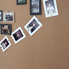 凡菲 软木贴板 照片墙留言板公司文化公告栏 完美升级带胶 软木板
