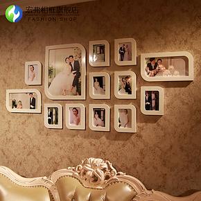 宏弗 新款13框照片墙 唯美结婚纱艺术照 相框墙组合 创意相片墙框
