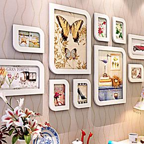 相框墙 新款照片墙 唯美结婚纱艺术照相框墙组合 创意相片墙框
