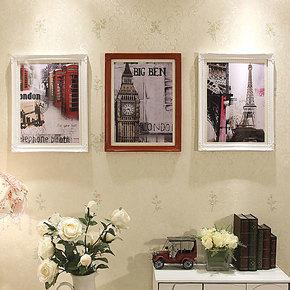 欧木格 照片墙 欧式实木玄关餐厅相片墙 婚纱艺术照相框墙11503