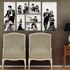 2013最新款卡拉水晶七件套照片墙影楼大相框婚纱背景照片墙相框