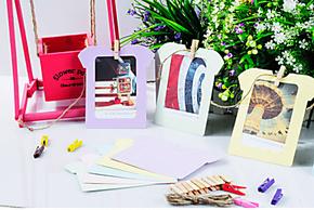 衣服造型纸相框 彩色卡纸相框 DIY相框 挂式纸相框/照片墙 5寸款