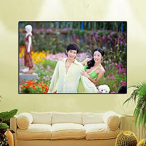18寸影楼拉米娜水晶版画制作 定制婚纱照片放大 宝宝相框照片墙
