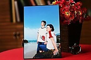 7寸DIY礼物 儿童 婚纱拉米娜摆台水晶摆台木版画无框画相框照片墙