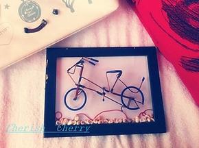【Cherish' Cherry】DIY创意相框 照片墙 清新LOMO 贝壳与单车