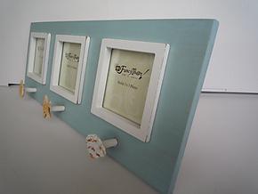 地中海风相框 照片墙 带贝壳挂钩 超美