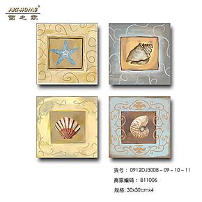 [SMART LIFE] 现代简约 背景墙照片墙装饰画无框画 海滩贝壳