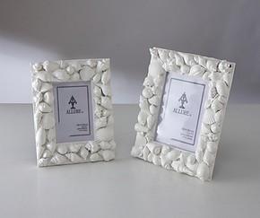 相框画框照片墙树脂 白色海螺贝壳 欧式简约现代时尚创意