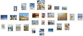 海景 图片 沙滩 画芯 像框墙 相片墙 照片墙 像框 贝壳