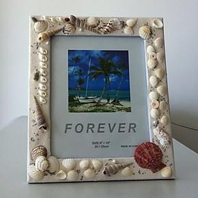 相框、相片墙、照片墙,10寸贝壳相框,纯手工制作。