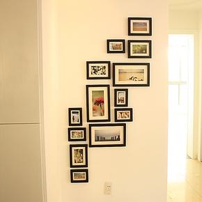 清仓包邮13框创意组合照片墙 纯实木竖版相片墙 相框墙 1013款