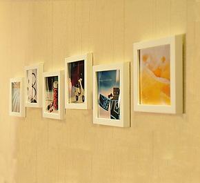 特价 6框7寸实木照片墙组合相框像框 沙发背景创意装饰画框