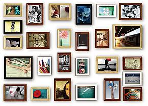 限时特价7折包邮欧式实木26相框组合像片相片墙沙发背景照片墙贴
