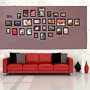 特价超大欧式实木沙发背景照片墙 28框创意客厅相框墙可冲印照片