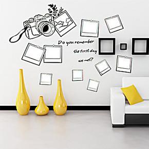 三代可移除照片墙贴纸 客厅沙发电视背景贴画 相框墙壁贴纸 相机