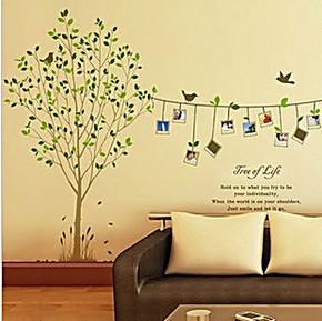 不伤墙面贴画 大树照片墙背景墙壁贴 浪漫客厅沙发卧室婚房墙贴纸