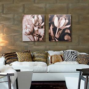 天画装饰画欧美时尚风格壁画客厅玄关卧室墙面挂画欧美时尚木板画