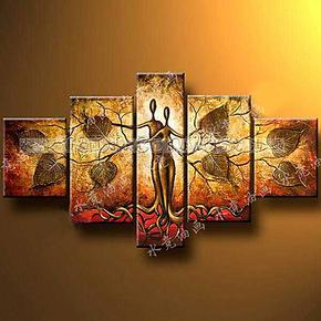 水竞油画 现代客厅装饰画无框油画家装墙面抽象挂画 一生共舞