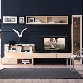 惠品美家现代简约电视柜组合客厅组合柜客厅吊柜装饰柜y3181