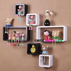 6件套壁柜 层架隔板搁板置物架宜家 创意家居 格子挂墙面装饰