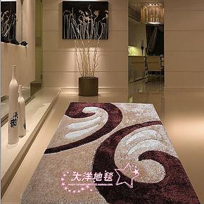 新款加厚超密客厅卧室床前茶几地毯图案现货包邮黑白经典条纹风格