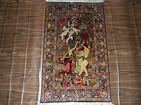 手工真丝挂毯 Silk Carpets 艺术手工真丝壁毯 60*91厘米