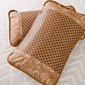 百丝连 皮枕套 竹凉席枕头套 单双人床竹枕套 藤枕套 单个