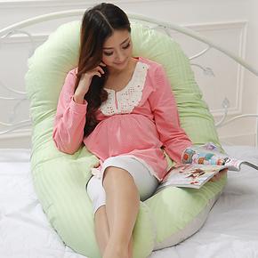 竹纤维孕妇枕头护腰枕侧睡侧卧枕多功能u型枕头套可拆洗可哺乳枕